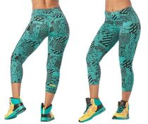 新作♪ズンバZumba Happiness Crop Leggings-Teal