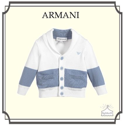 Emporio Armani☆Boys Cotton ニットカーディガン