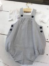 SS19BONPOINT☆BEBE サロペットEVER encre x blanc 18.24M