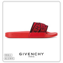 【GIVENCHY(ジバンシィ)】4G WEBBING SANDALS IN RUBBER RED