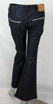 GUCCI デニム・ジーパン GUCCI★グッチ★素敵!Dark Blue Cotton Short Flare Denim Pant(5)