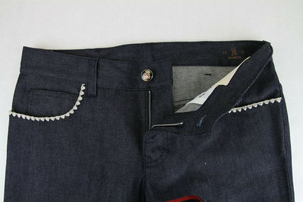 GUCCI デニム・ジーパン GUCCI★グッチ★素敵!Dark Blue Cotton Short Flare Denim Pant(6)