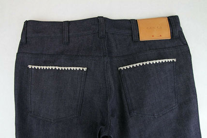 GUCCI デニム・ジーパン GUCCI★グッチ★素敵!Dark Blue Cotton Short Flare Denim Pant(10)