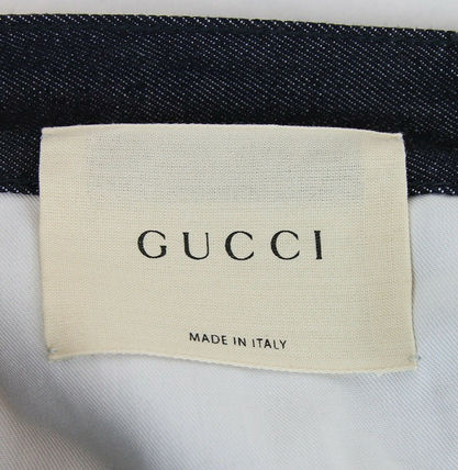 GUCCI デニム・ジーパン GUCCI★グッチ★素敵!Dark Blue Cotton Short Flare Denim Pant(11)