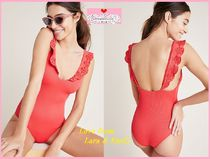最安値*関送込【Anthro】Beach Riot Ruffled One-Piece Swimsuit