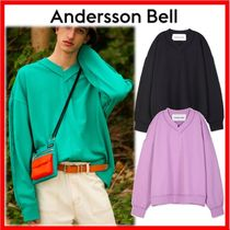 人気☆【ANDERSSON BELL】☆INSIDE OUT V-NECK SWEATSHIRT☆3色