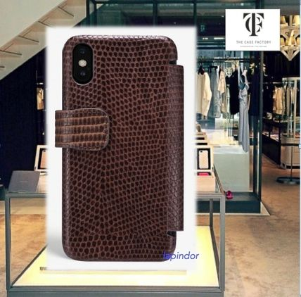 THE CASE FACTORY スマホケース・テックアクセサリー THE CASE FACTORY★IPHONE XS MAX CARD CASE VARAN BROWN