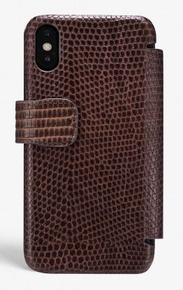 THE CASE FACTORY スマホケース・テックアクセサリー THE CASE FACTORY★IPHONE XS MAX CARD CASE VARAN BROWN(2)