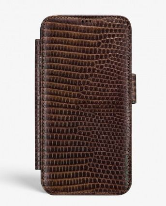 THE CASE FACTORY スマホケース・テックアクセサリー THE CASE FACTORY★IPHONE XS MAX CARD CASE VARAN BROWN(3)