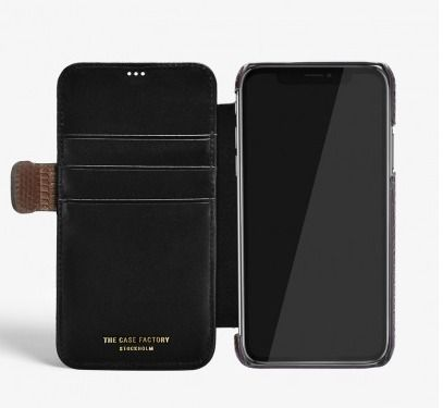 THE CASE FACTORY スマホケース・テックアクセサリー THE CASE FACTORY★IPHONE XS MAX CARD CASE VARAN BROWN(4)