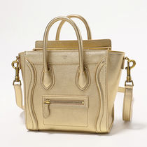 CELINE 189243BED.35OR LUGGAGE Nano バッグ トートバッグ GOLD