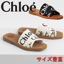 Chloe★足元で差がつく★ Woody flat mule in canvas★