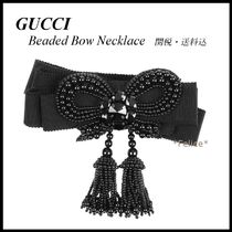 *GUCCI*Beaded Bow Necklace 関税/送料込