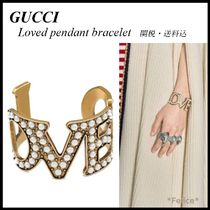 *GUCCI*Loved pendant bracelet with pearls 関税/送料込