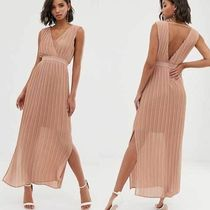国内発送ASOS/Y.A.S pleated wrap maxi dress