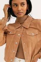 Cropped Suede Trucker Jacket 日本未入荷【free people】