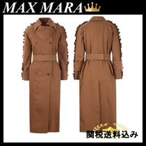 MAX MARA Baccara cotton twill double-breasted trench coat