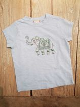SS19 BONPOINT☆FILLE Tシャツ ELEPHANT ライトブルー 4A
