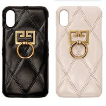 *GIVENCHY*リング付 ケース Diamond Quilted iPhone XS/X
