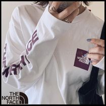 THE NORTH FACE(ザノースフェイス) Tシャツ・カットソー 国内発送・正規品★THE NORTH FACE★L/S SQUARE LOGO SLEEVE TEE
