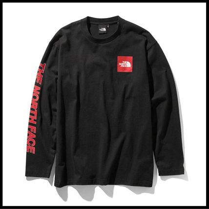 THE NORTH FACE Tシャツ・カットソー 国内発送・正規品★THE NORTH FACE★L/S SQUARE LOGO SLEEVE TEE(19)