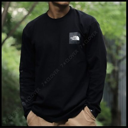 THE NORTH FACE Tシャツ・カットソー 国内発送・正規品★THE NORTH FACE★L/S SQUARE LOGO SLEEVE TEE(4)