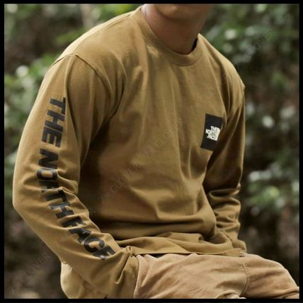 THE NORTH FACE Tシャツ・カットソー 国内発送・正規品★THE NORTH FACE★L/S SQUARE LOGO SLEEVE TEE(6)