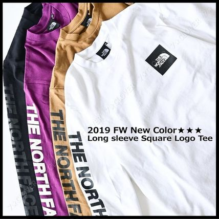 THE NORTH FACE Tシャツ・カットソー 国内発送・正規品★THE NORTH FACE★L/S SQUARE LOGO SLEEVE TEE