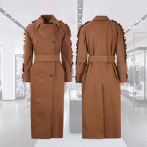 **MAX MARA**★Baccara cotton double-breasted trench coat