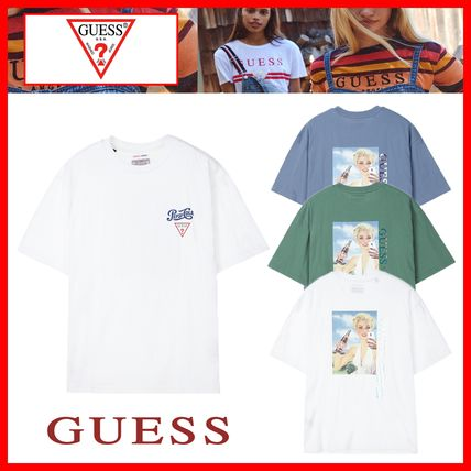 Guess Tシャツ・カットソー 人気☆【GUESS×PEPSI】☆登板 グラフィック 半袖 Tシャツ ☆3色