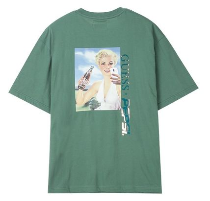 Guess Tシャツ・カットソー 人気☆【GUESS×PEPSI】☆登板 グラフィック 半袖 Tシャツ ☆3色(7)