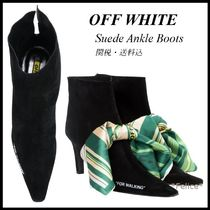 *OFF WHITE*FOR WALKING アンクルブーツ 関税/送料込