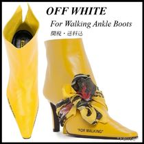 *OFF WHITE*For Walking Ankle Boots 関税/送料込