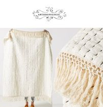 人気上昇中!Anthropologie☆Nevin Throw Blanket Ivory