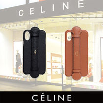 CELINE Iphone X and XS case with strap in smooth calfskin