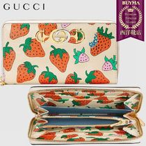 【正規品保証】GUCCI★19春夏★STRAWBERRY ZIP AROUND WALLET