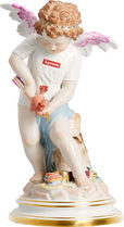Supreme 19SS Meissen Hand-Painted Porcelain Cupid Figurine