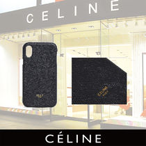 CELINE Iphone X and XS case in grained lambskin
