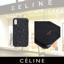 CELINE Mens Iphone X and XS case in grained lambskin