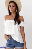 ★ASOS★DESIGN off shoulder sun top in organic cotton