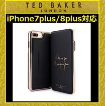 TED BAKERテッドベイカー手帳型鏡付  iPhone7plus/8plus■K582