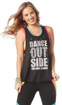 新作♪ズンバ ZUMBA DANCE OUTSIDE LOOSE TANK - BOLD BLACK