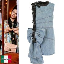 MIUMIU Embroidered Denim Dress