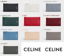 CELINE ZIPPED COMPACT CARD HOLDER GRAINED CALFSKIN