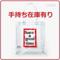 【have a good time】PVC FRAME TOTE BAG クリアタイプ