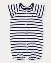 新作♪ 国内発送 Striped Smocked Shortall girls 0~24M