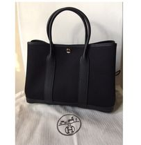 HERMES Love It !! Garden Party 30 tote bag noir