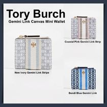 ☆Tory Burch ☆Gemini Link Canvas Mini Wallet ☆ 3カラー