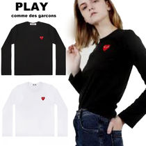 COMME des GARCONS(コムデギャルソン) Tシャツ・カットソー 国内発送PLAY コムデギャルソン  レディース 赤ハートロゴ ロンT