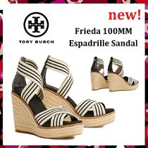 セール 新作 Tory Burch Frieda 100mm Espadrille Sandal